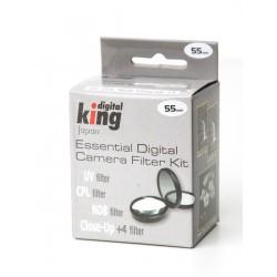Juego de filtros 55mm (UV, CPL, ND8 y macro +4)