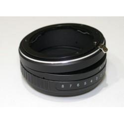 Adaptador basculable de Nikon a Sony-E