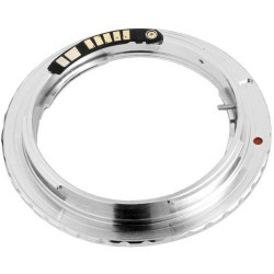 Adaptador Olympus OM para Canon EOS confirmación enfoque EMF