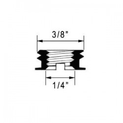 Reductores rosca 3/8 a 1/4 largo 5.5mm BR-5.5 (x3)