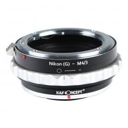 Adaptador  K&F Concept de Nikon-G a micro-4/3