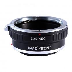 Adaptador K&F Concept objetivos Canon EOS para Sony montura-E