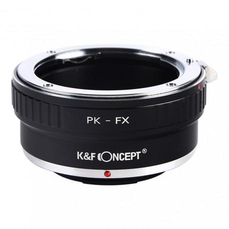 Adaptador K&F Concept de objetivos Pentax-K para Fuji-X