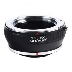 Adaptador K&F Concept de objetivos Minolta-MD para Fuji-X