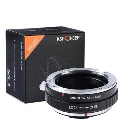 Adaptador K&F Concept objetivos Sony-Alpha (Minolta-AF) para micro-4/3