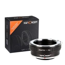 Adaptador K&F concept objetivos Praktica-B a Fuji-X