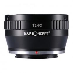 Adaptador K&F Concept de objetivos rosca T2 para Fuji-X