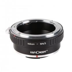 Adaptador  K&F Concept de Nikon a micro-4/3