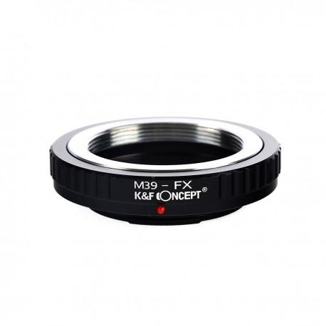 Adaptador K&F concepts de objetivos rosca Leica-M39 para Fuji-X