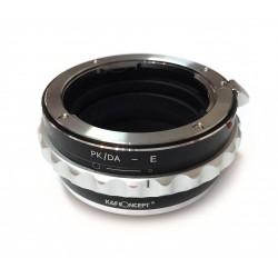 Adaptador K&F Concept objetivos Pentax-K para Sony montura-E control apertura
