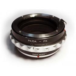 Adaptador K&F Concept objetivos Pentax-K para Fuji FX control apertura