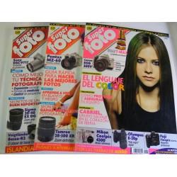Lote 3 revistas SUPERFOTO año 2003 ( nº 84,85,86 )