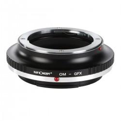 Adaptador K&F concept de objetivos Olympus OM para Fuji GFX50S