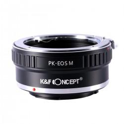 Adaptador K&F concept de objetivos Pentax K para Canon EOS-M
