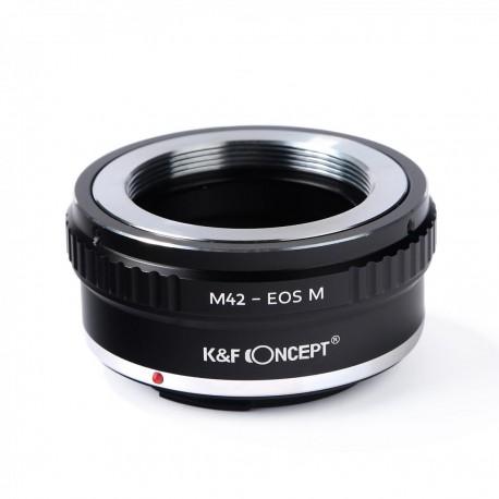 Adaptador K&F concept de objetivos M42 para Canon EOS-M