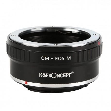 Adaptador K&F concept de objetivos Olympus-OM para Canon EOS-M