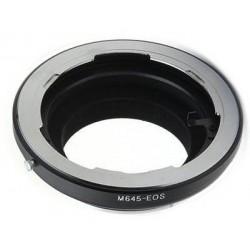 Adaptador objetivos Mamiya 645 para Canon EOS