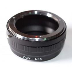 Adaptador objetivos Yashica/Contax para Sony NEX