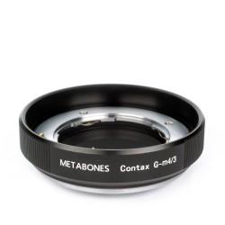 Adaptador Metabones de objetivos Contax-G para micro-4/3