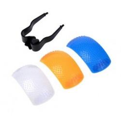 Difusor para flash incorporado (3 colores)