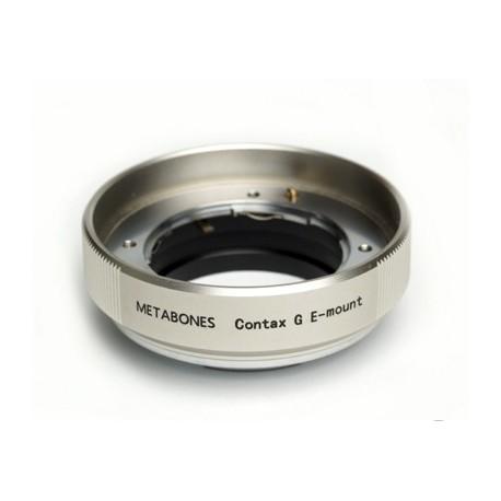 Adaptador Metabones de objetivos Contax-G para Sony NEX (plata)
