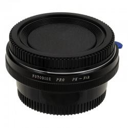Adaptador Fotodiox Pro de objetivos Pentax-K para Nikon