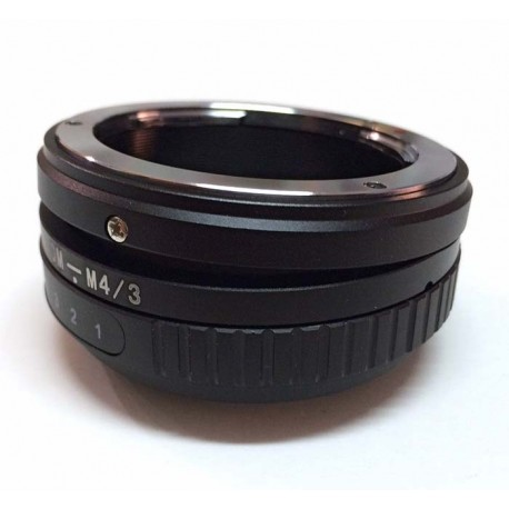 Tilt adapter for OM lens to micro-4/3 mount