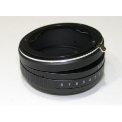 Tilt adapter for Nikon lens to Sony-E mount