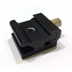"16-20mm Adjustable Flash Shoe Mount with 1/4"" Female Thread"