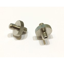 "Male to male 1/4-1/4"" Adapter Screw (2 pcs)"