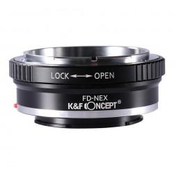 Adaptador K&F Concept. de Canon-FD para Sony NEX