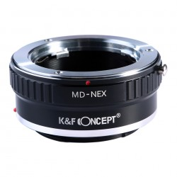 Adaptador K&F Concept de objetivos Minolta-MD para Sony montura-E