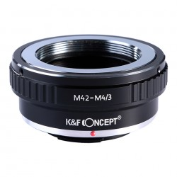 Adaptador K&F Concept de objetivos rosca M42 para Olympus micro 4/3