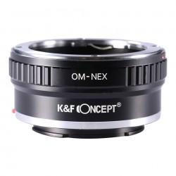 Adaptador K&F Concept de objetivos Olympus OM para Sony NEX