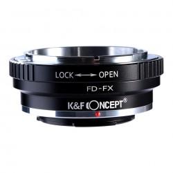 Adaptador K&F Concept de objetivos Canon-FD para Fuji-X