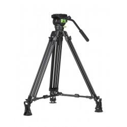 Genesis Base Professional CVT-20 video tripod and a VF-7.5 fluid head