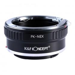 Adaptador K&F Concept de objetivos Pentax-K para Sony montura-E