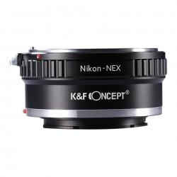 Adaptador K&F Concept de objetivos Nikon para Sony montura-E