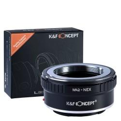 Adaptador K&F Concept de objetivos M42 para Sony montura-E