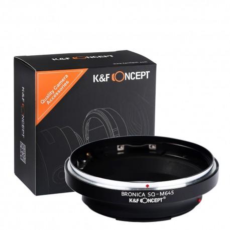 K&F concept Adapter for Bronica SQ lens to Mamiya-645 (pro, super, 1000S,  afd, afii) Fatuarte