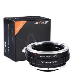 Adaptador K&F Concept objetivos Sony Alpha/Minolta-AF para Fuji-X