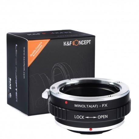 Adaptador K&F Concept objetivos Alpha/Minolta-AF para Fuji-X