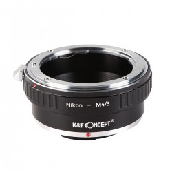 K&F Concept Objektiv Adapterring für Nikon Mount Objektive auf  Olympus micro-4/3