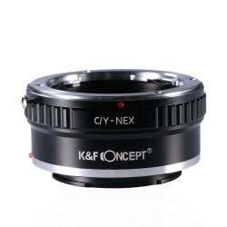 K&F Concept Objektiv Adapterring für Yashica/Contax Mount Objektive auf Sony-E