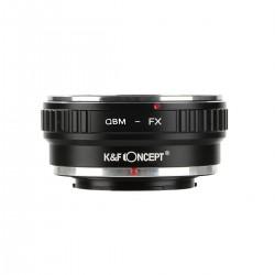 K&F Concept QBM-NEX Objektivadapter für Rollei QBM Objektiv an Fuji FX-Mount Kamera