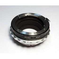 Adaptador K&F Concept objetivos Pentax-K para micro-4/3 control apertura