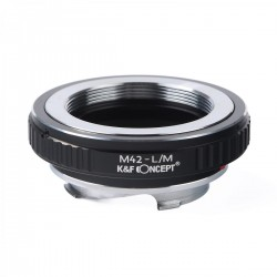 Adaptador K&F Concept de objetivos M42 para Leica-M