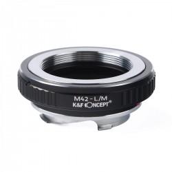 K&F Concept Objektiv Adapterring für M42 anschluss Objektive auf Leica-M