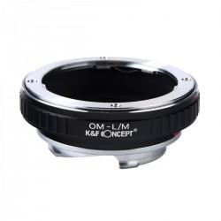 K&F Concept Objektiv Adapterring für Olympus OM anschluss Objektive auf Leica-M