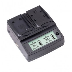 LVSUN Professional Duo LCD Charger for Canon LP-E6